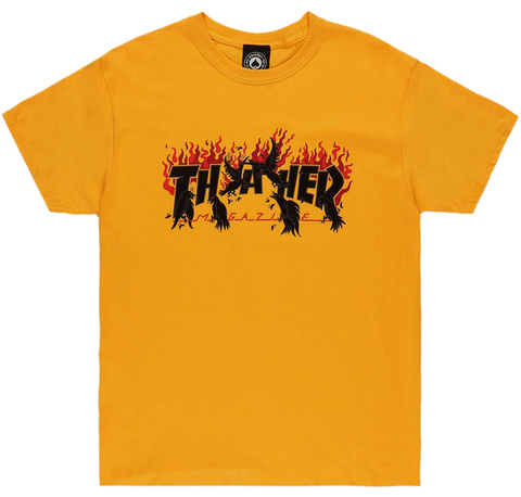 THRASHER - Crows - Tshirt /Gold