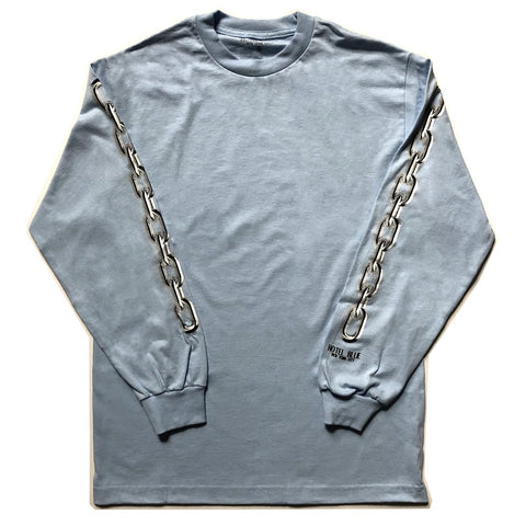 HOTEL BLUE - Chains - LS - Tshirt Manches Longues /Powder Blue