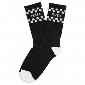 PIZZA - Checked Chaussettes /Noir