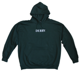 DERBY - Hoodie /Bottle Green-White