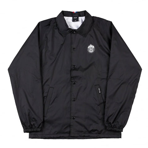 THRASHER X HUF - Coach Jacket /Noir