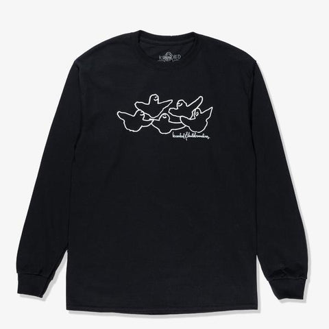 KROOKED - OG Birds LS - Tshirt Manches Longues /Black