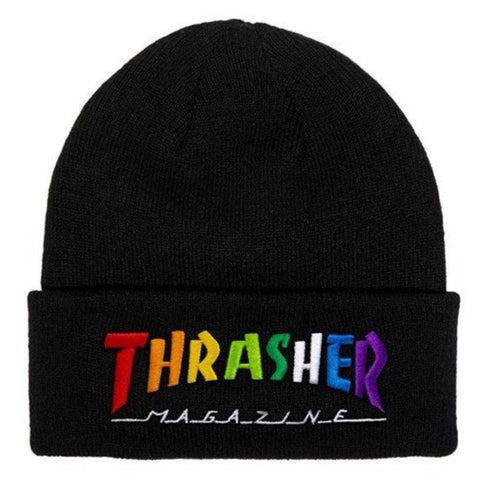 THRASHER - Rainbow Mag - Bonnet /Black