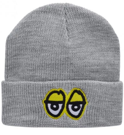 KROOKED - Eyes Cuff Beanie - Bonnet Brodé /Heather-Yellow