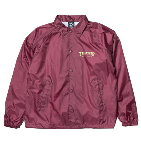 THRASHER - Pentagram Coach Jacket /Maroon