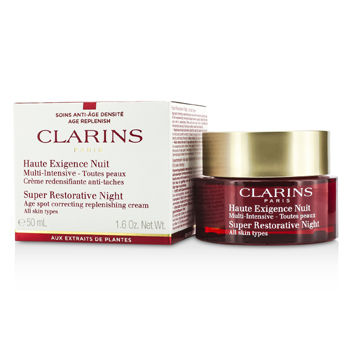 Clarins Super Restorative Night Age Spot Correcting Replenishing Cream 1.6 oz, Clarins Night Care