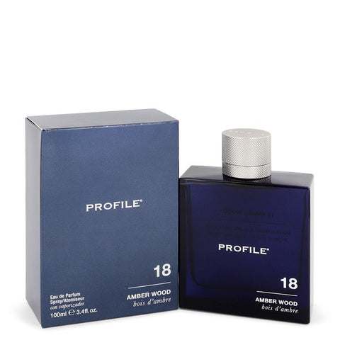 18 Amber Wood by Profile for Men. Eau De Parfum Spray 3.4 oz