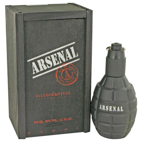 Eau De Parfum Spray 3.4 oz, Arsenal Black by Gilles Cantuel