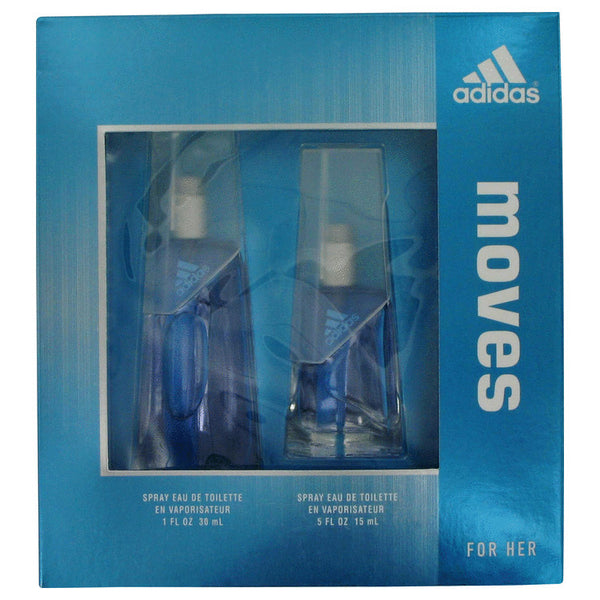 Gift Set (1 oz Eau De Toilette Spray + .5 oz Eau De Toilette Spray), Adidas Moves by Adidas