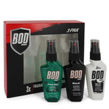 Bod Man Fresh Guy by Parfums De Coeur for Men. Gift Set - Includes Fresh Guy, Black and World Class all in 1.5 oz Body Sprays --