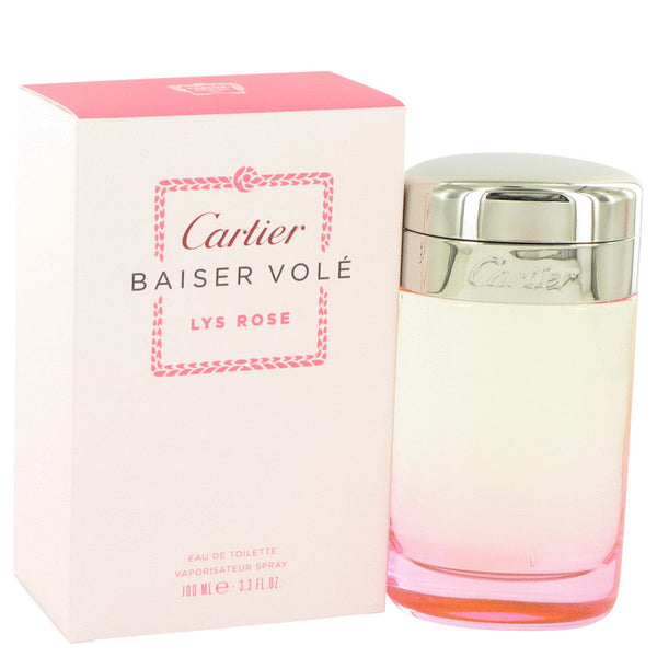 Eau De Toilette Spray 3.3 oz, Baiser Vole Lys Rose by Cartier
