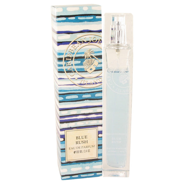 Eau De Parfum Spray 3.4 oz, Blue Rush (Caribbean Joe) by Caribbean Joe