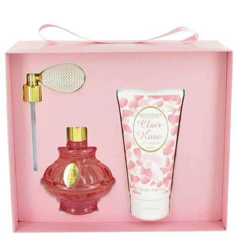 Gift Set (2.6 oz Eau De Toilette Spray + 2.5 oz Body Lotion), Clair De Rose by Berdoues