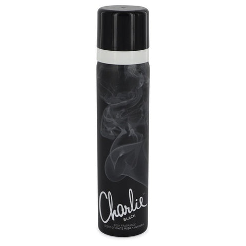 Charlie Black by Revlon for Women. Body Fragrance Spray 2.5 oz