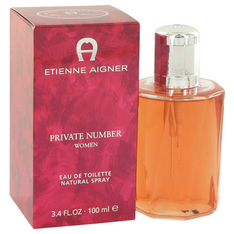 Eau De Toilette Spray 3.4 oz, Private Number by Etienne Aigner