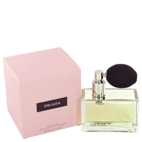 Eau De Parfum Spray Refillable (includes deluxe atomizer) 2.7 oz, Prada by Prada