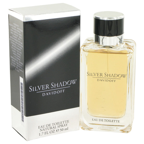 Silver Shadow by Davidoff for Men. Eau De Toilette Spray 1.7 oz