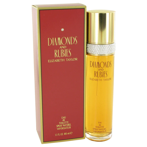 Eau De Toilette Spray 3.4 oz, DIAMONDS & RUBIES by Elizabeth Taylor