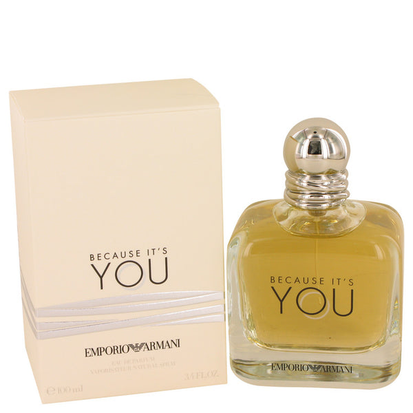 Eau De Parfum Spray 3.4 oz, Because It`s You by Emporio Armani