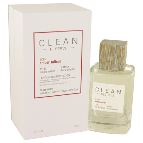 Eau De Parfum Spray 3.4 oz, Clean Amber Saffron by Clean