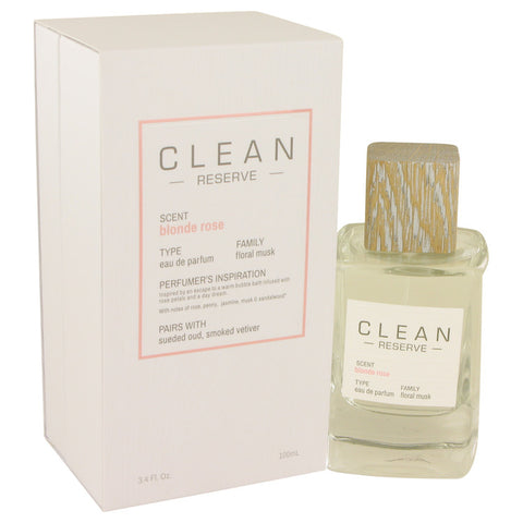 Eau De Parfum Spray 3.4 oz, Clean Blonde Rose by Clean