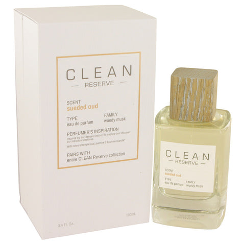 Eau De Parfum Spray 3.4 oz, Clean Sueded Oud by Clean