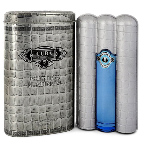 Cuba Prestige Platinum by Fragluxe for Men. Eau De Toilette Spray 3 oz