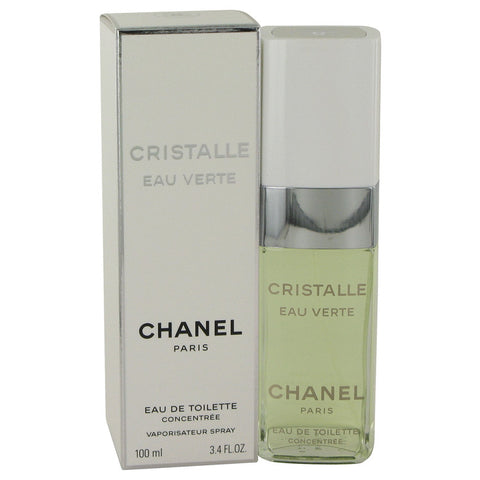 Eau De Toilette Concentree Spray 3.4 oz, Cristalle Eau Verte by Chanel