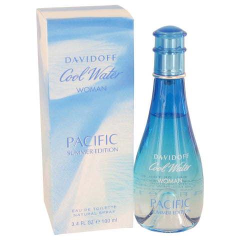 Eau De Toilette Spray 3.4 oz, Cool Water Pacific Summer by Davidoff
