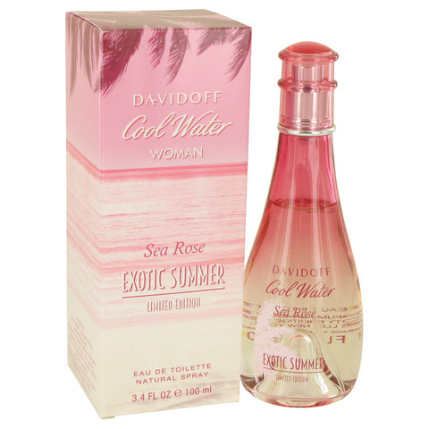Eau De Toilette Spray 3.4 oz, Cool Water Sea Rose Exotic Summer by Davidoff