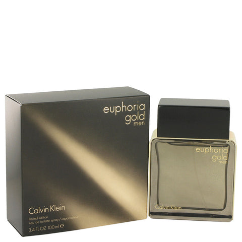 Eau De Toilette Spray (Limited Edition) 3.4 oz, Euphoria Gold by Calvin Klein