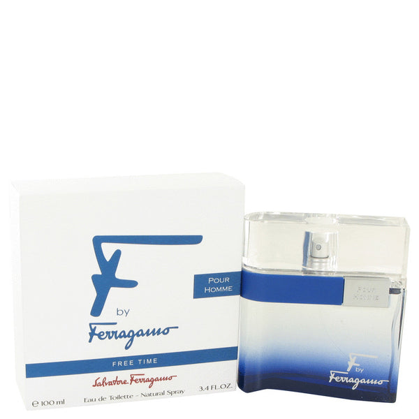 Eau De Toilette Spray 3.4 oz, F Free Time by Salvatore Ferragamo