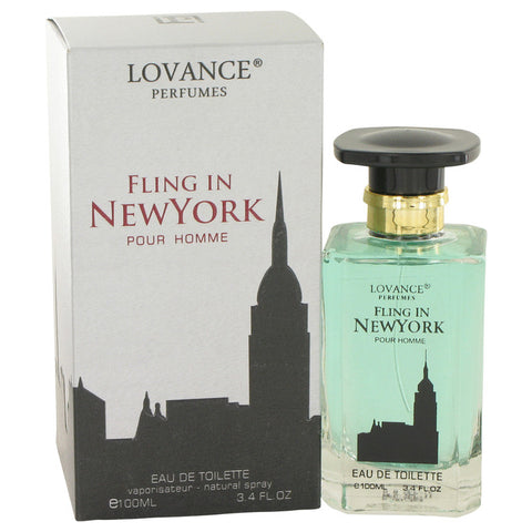 Eau De Toilette Spray 3.4 oz, Fling In New York by Lovance