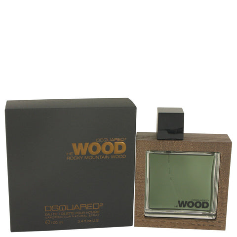 Eau De Toilette Spray 3.4 oz, He Wood Rocky Mountain Wood by Dsquared2