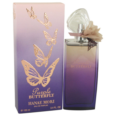 Eau De Parfum Spray 3.4 oz, Hanae Mori Purple Butterfly by Hanae Mori