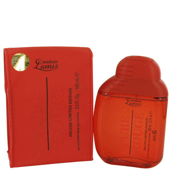 Eau De Toilette Spray 3.3 oz, Pure Rouge by Lamis