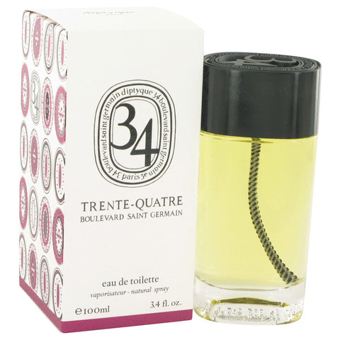 Eau De Toilette Spray (Unisex) 3.4 oz, 34 boulevard saint germain by Diptyque
