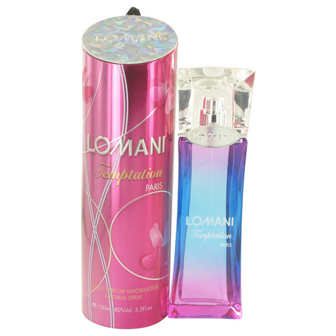 Eau De Parfum Spray 3.4 oz, Lomani Temptation by Lomani