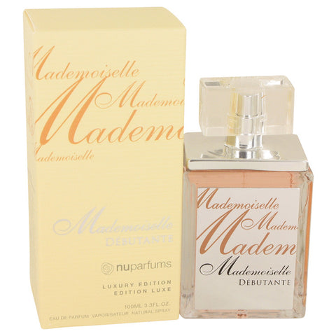 Eau De Parfum Spray 3.3 oz, Mademoiselle Debutante by Nu Parfums