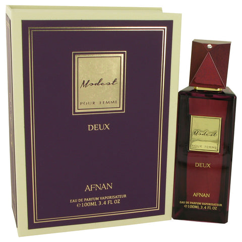 Modest Pour Femme Deux by Afnan for Women. Eau De Parfum Spray 3.4 oz
