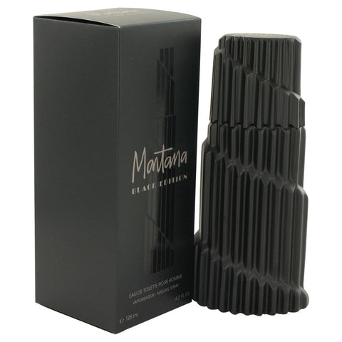Eau De Toilette Spray 4.2 oz, Montana Black Edition by Montana