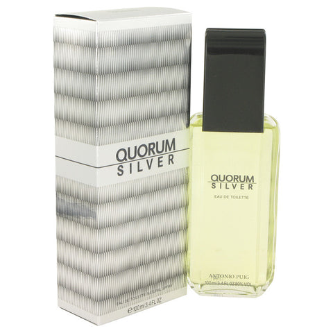 Eau De Toilette Spray 3.4 oz, Quorum Silver by Puig