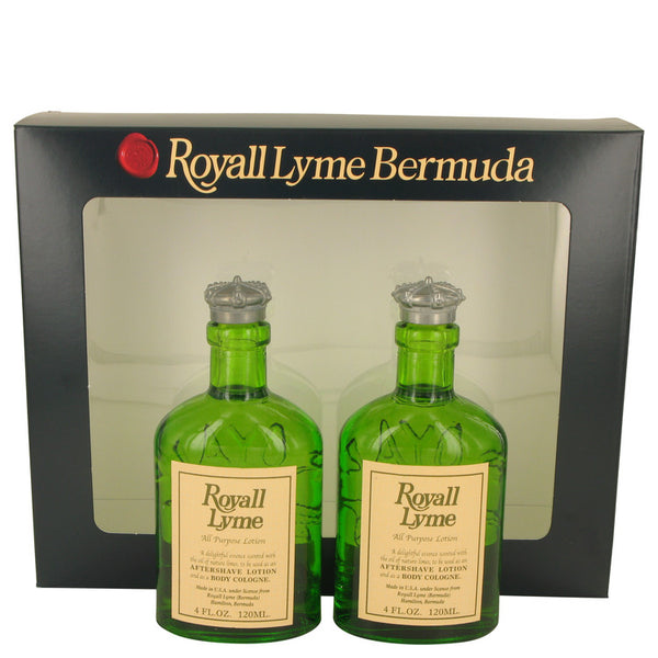 Gift Set (Two 4 oz All Purpose Lotion / Cologne Splash includes 2 Spray pumps), ROYALL LYME by Royall Fragrances