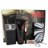 Scarface Al Pacino by Universal Studios for Men. Gift Set (3.4 oz Eau De Toilette Spray + 6.8 oz Body Lotion + .34 oz Mini EDT Spray + Money Clip+ Key Chain + Designer Scarf)