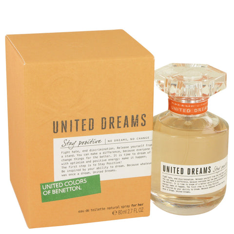 Eau De Toilette Spray 2.7 oz, United Dreams Stay Positive by Benetton