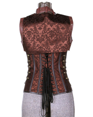 Airship Pirate Elizabeth Brocade Corset with Jacket Add-on
