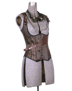 Aviator Alice Striped Corset Vest