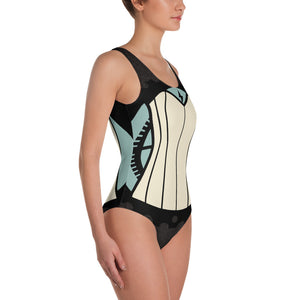 Corset Printed One-Piece Swimsuit