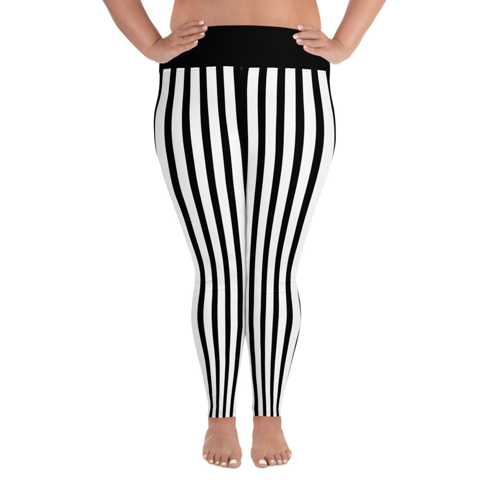 Airship Pirate Striped Plus Size Leggings