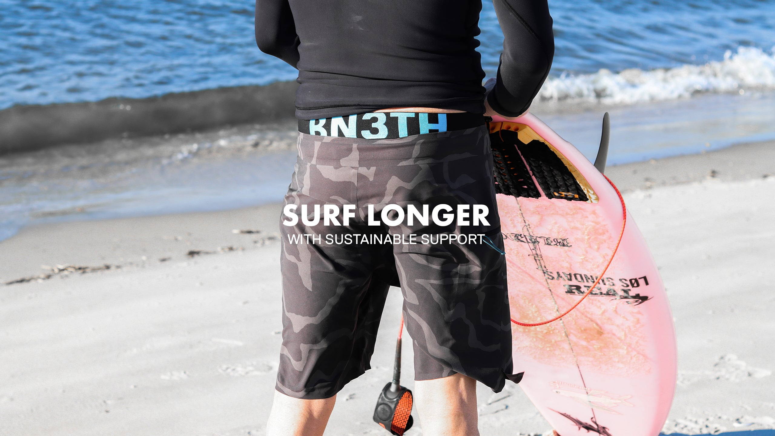 Supportive surf short liner anti chafe and rub free